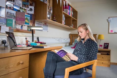 Final year student's room in Christina Barratt Building