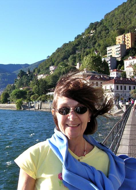 Diana Livesey at Lake Como
