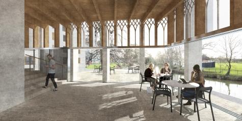 Gort Scott's 'Redefining St Hilda's' concept design: Riverside Pavillion