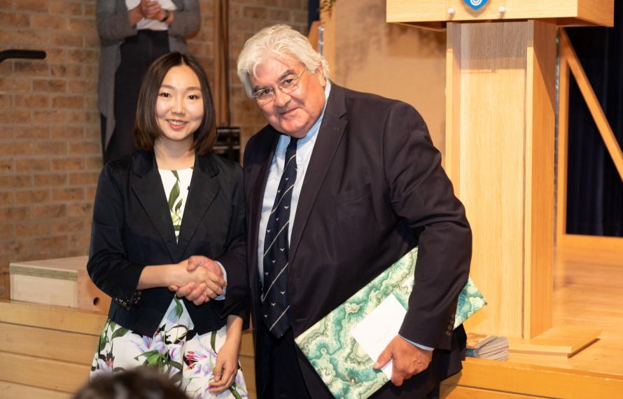 Farewell to Sir Gordon Duff, Principal of St Hilda's College 2014 - 2021, speech by Angela Liu on behalf of Katarina Foss-Solbrekk, MCR President 2020-21