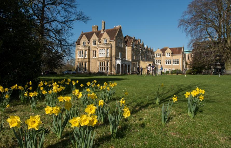 St Hilda's South Garden in springtime