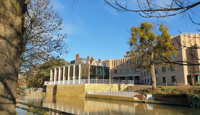 St Hilda's riverside pavilion and boundary building