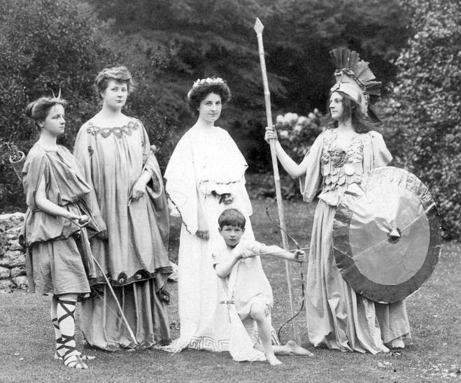 Performance of Arraingnment of Paris, in the grounds of St Hilda's, c. 1906