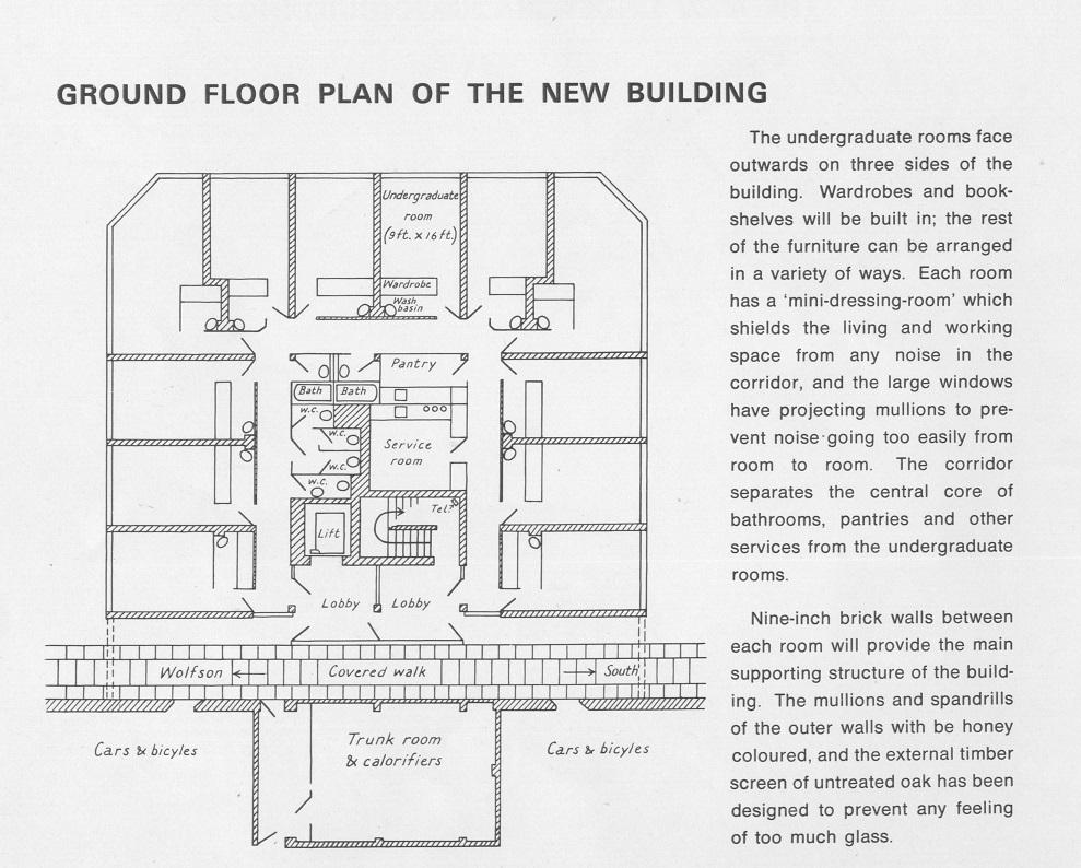 Building plan for Garden Building at St Hilda's College