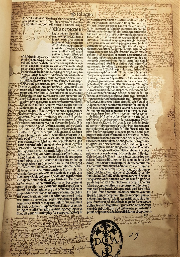 First page from the oldest printed book in St Hilda's special collections