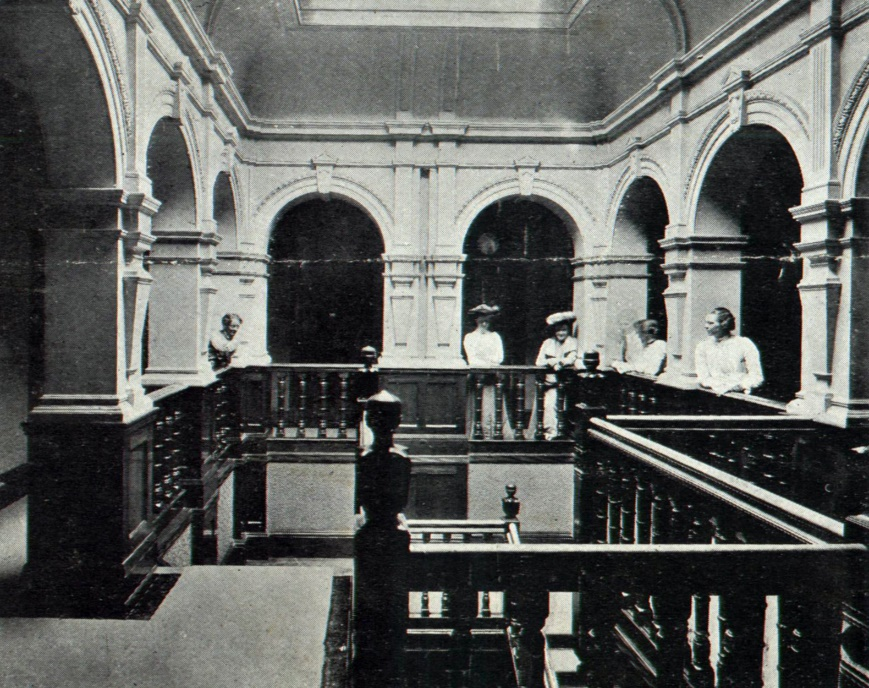 Cherwell Hall upstairs stairwell c1903