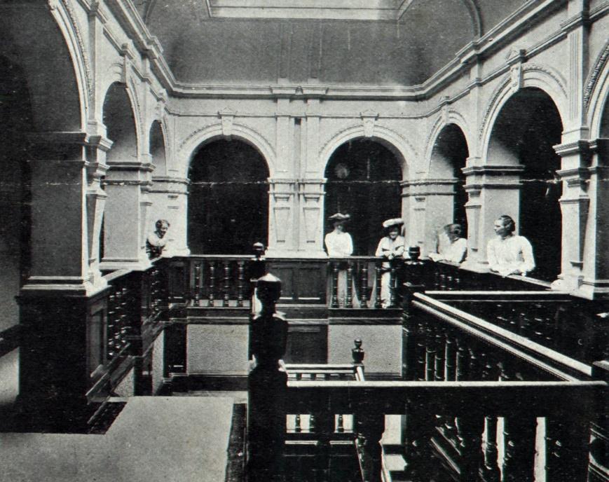 Cherwell Hall upstairs stairwell c1903