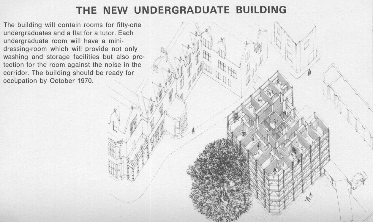 Building plan for Garden Building at St Hilda's College, University of Oxford