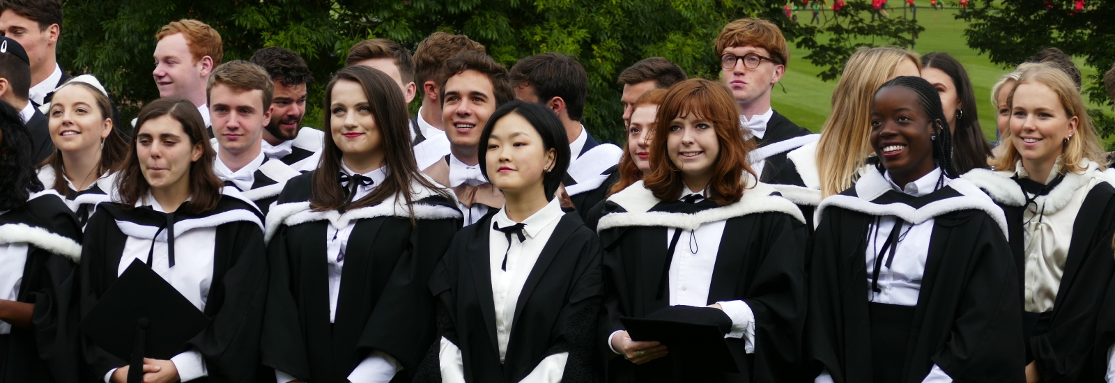 New graduates following their graduation ceremony
