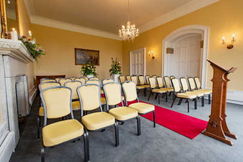 Wedding ceremony in the Lady Brodie Room, St Hilda's College