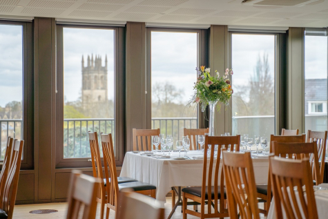 Dinner in the rooftop suite at St Hilda's College