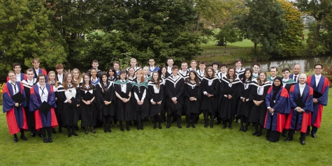 St Hilda's College students at their graduation in 2015