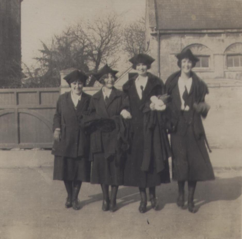 Students in gowns, 1922
