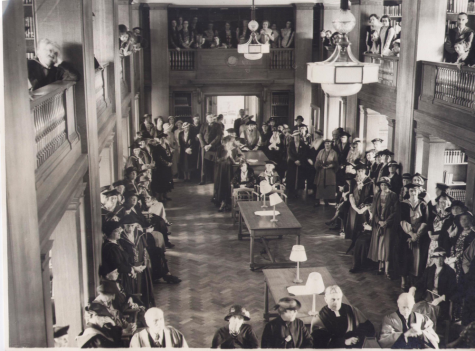 Opening of St Hilda's College Library in 1935