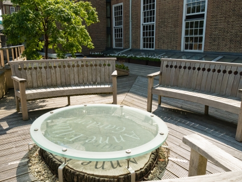 St Hilda's College Library Garden