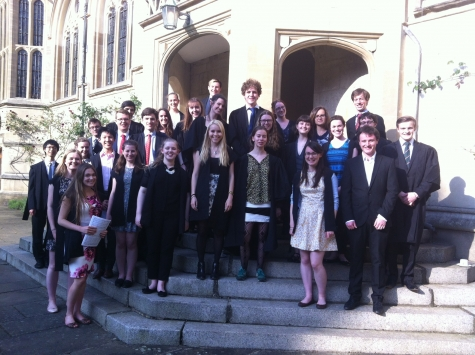 St Hilda's Choir, before the joint-service with Oriel College at Oriel College Chapel