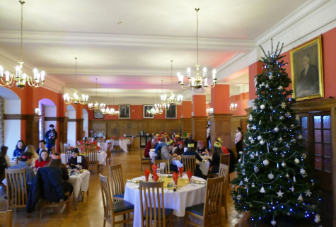 Household groups celebrate Christmas Lunch at St Hilda's