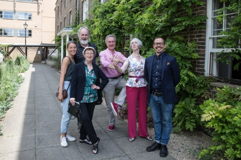 Elly Braund, Sir Richard Alston, Professor Sue Jones, Alastair Macaulay, Moira Goff and Tom Sapsford at DANSOX's Inaugural Summer School, July 2019