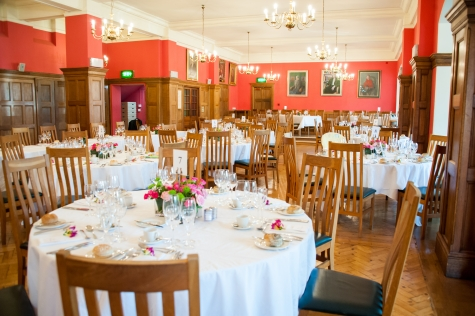 Wedding breakfast in St Hilda's Dining Hall