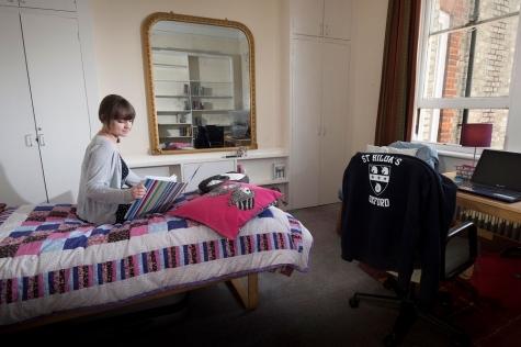 Undergraduate student room in Garden Building