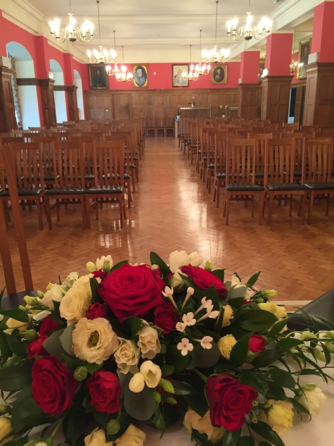 Wedding Ceremony in St Hilda's Dining Hall