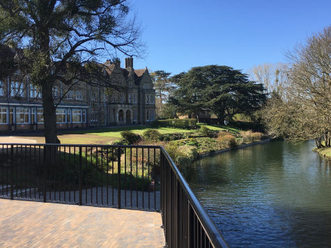 Our riverside terrace, next to the Pavilion