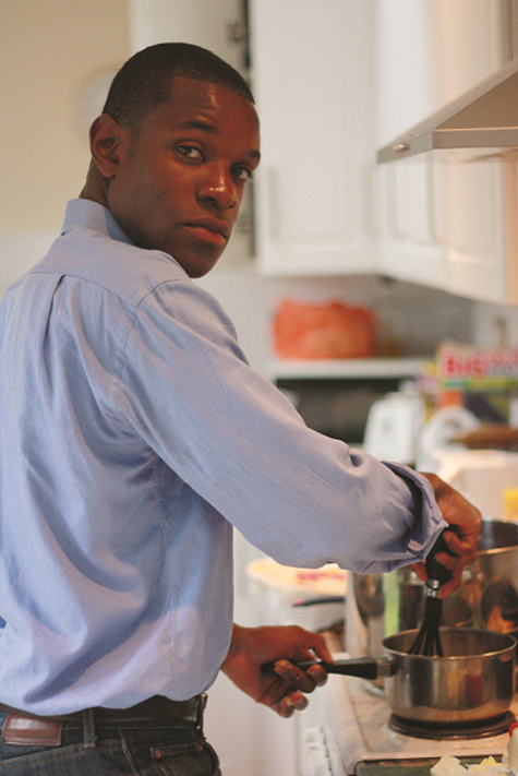 Kojo Minta cooking