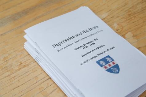 Depression and the Brain, Brain and Mind seminar series, St Hilda's College