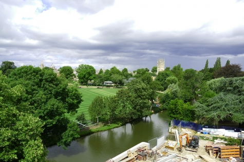 View from St Hilda's Boundary Building roof garden from Autumn 2020