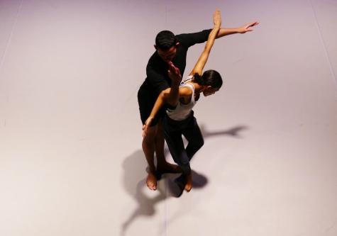 Richard Alston and dancers at the Jacqueline du Pre Music Building