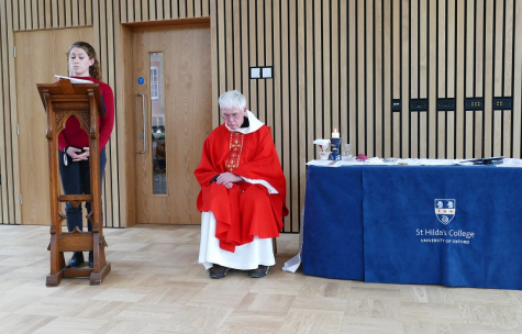 Catholic Mass held in the Pavilion at St Hilda's College