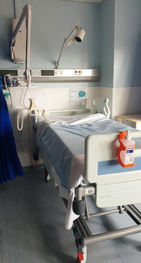 Patient's hospital bed