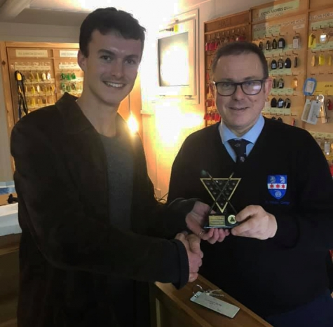 Lodge Manager, Peter Marston, wins the JCR pool tournament