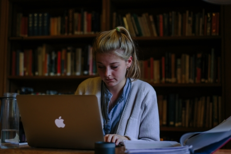 Studying in the Kathleen Major Library, St Hilda's College