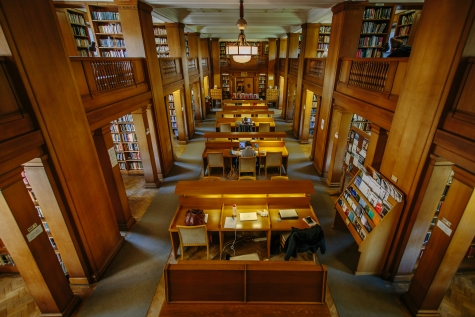Kathleen Major Library, St Hilda's College, from the first floor