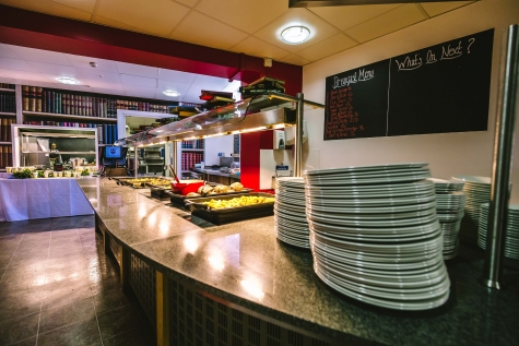 St Hilda's Dining Hall servery at lunchtime