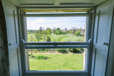 View from a guest room in Hall Building, St Hilda's College, Oxford