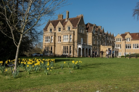 St Hilda's College grounds in spring time