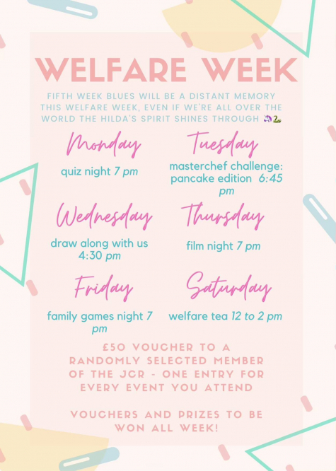 Welfare Week St Hilda's College