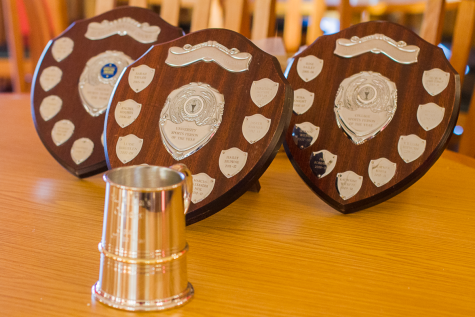 Trophies presented at St Hilda's annual Sports Dinner, 2015