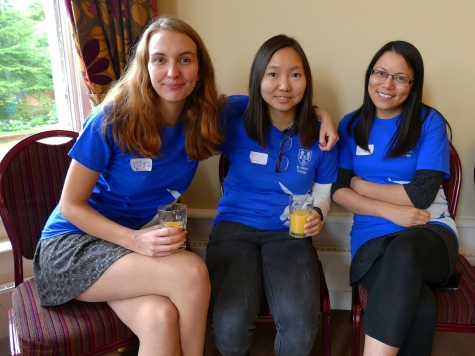 Student helpers at St Hilda's College open day