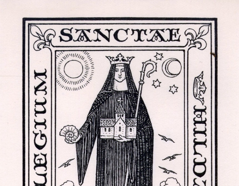 St Hilda's bookplate by E.H. New (1926)