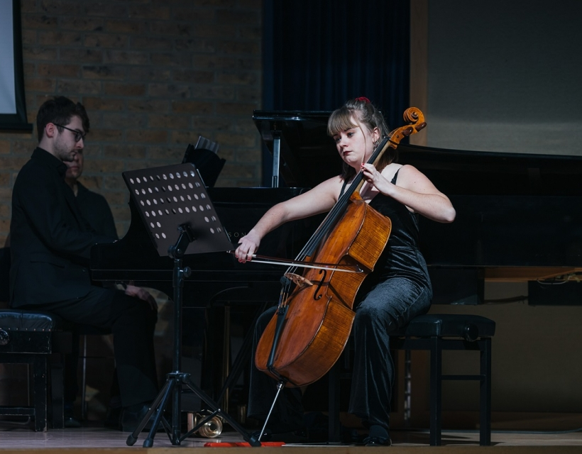 St Hilda's Musicians, David Palmer and Holly Jackson, at Making The Cellist