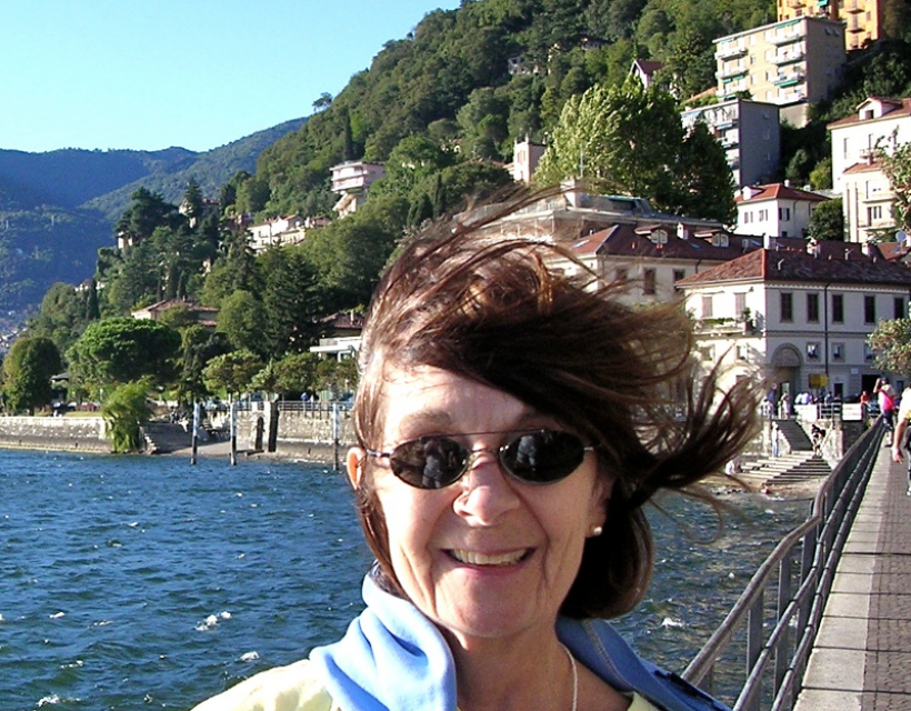 Diana Livesey at Lake Como