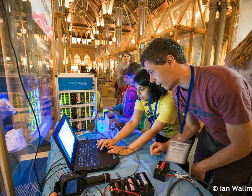 Dr David Howey takes part in the University Research event, 'Curiosity Carnival'