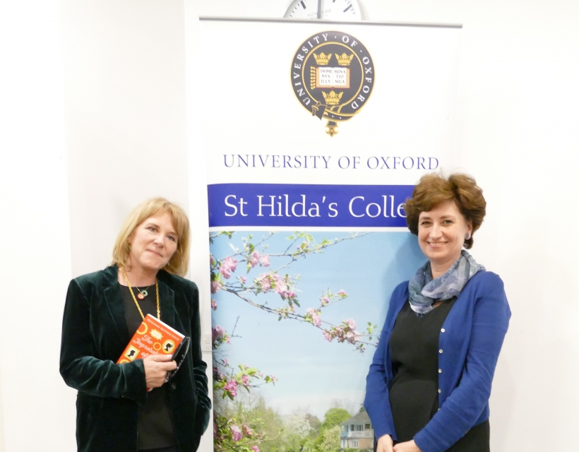 Hannah Rothchild and Nicolette Jones at St Hilda's Writers' Day, Oxford Literary Festival