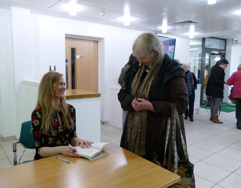 Daisy Dunn signing books at St Hilda's Writers' Day, Oxford Literary Festival