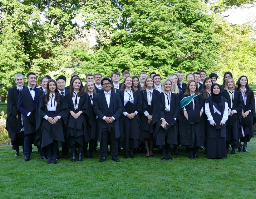 Graduating from St Hilda's in 2018
