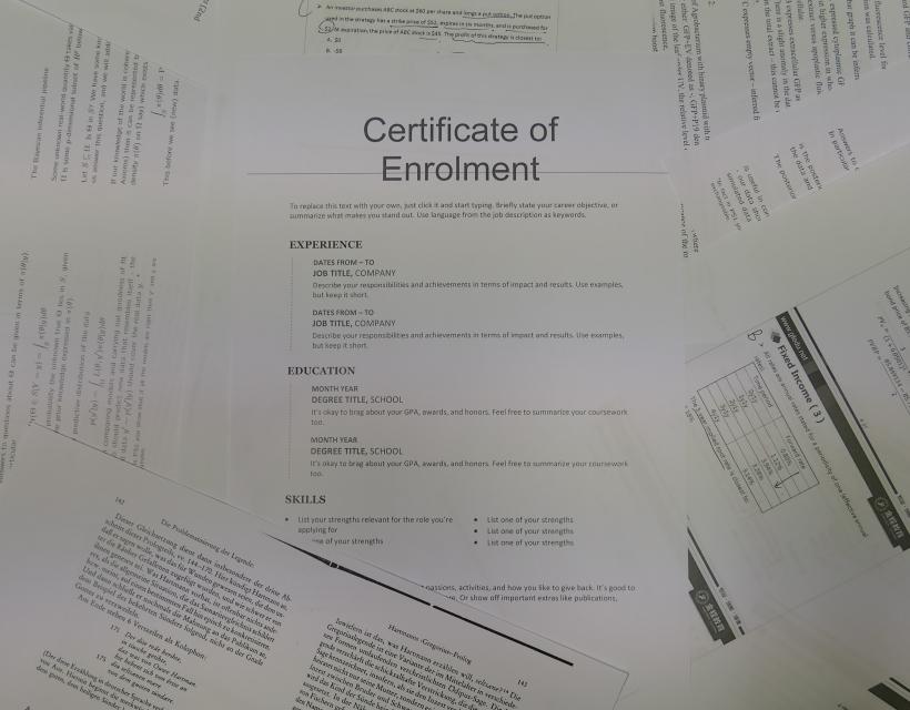 Certificate of Enrolment