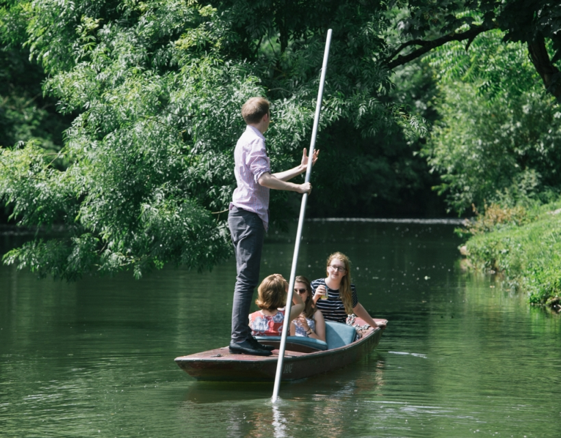 Punting is freely available to alumnae